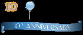 Logo showing 10th anniversary of Biomonitoring California